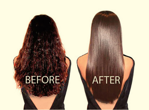 Keratin Smoothing Treatment - Before & After